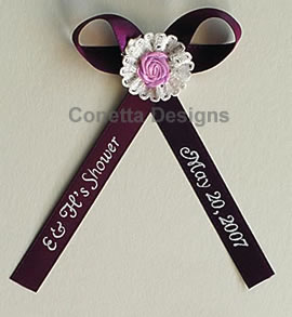bridal shower ribbons baby shower ribbons samples personalized