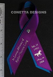 Awareness Ribbon Personalized Memorial Remembrance Ribbon