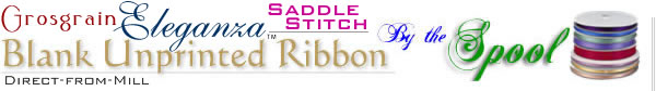 Grosgrain Saddle Stitch Ribbon Blank Unprinted by the Spool